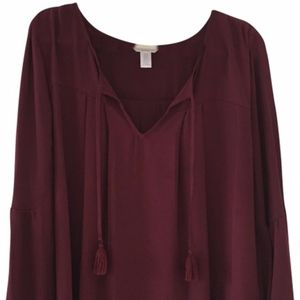 London Times Burgundy Blouse Top Size 3X